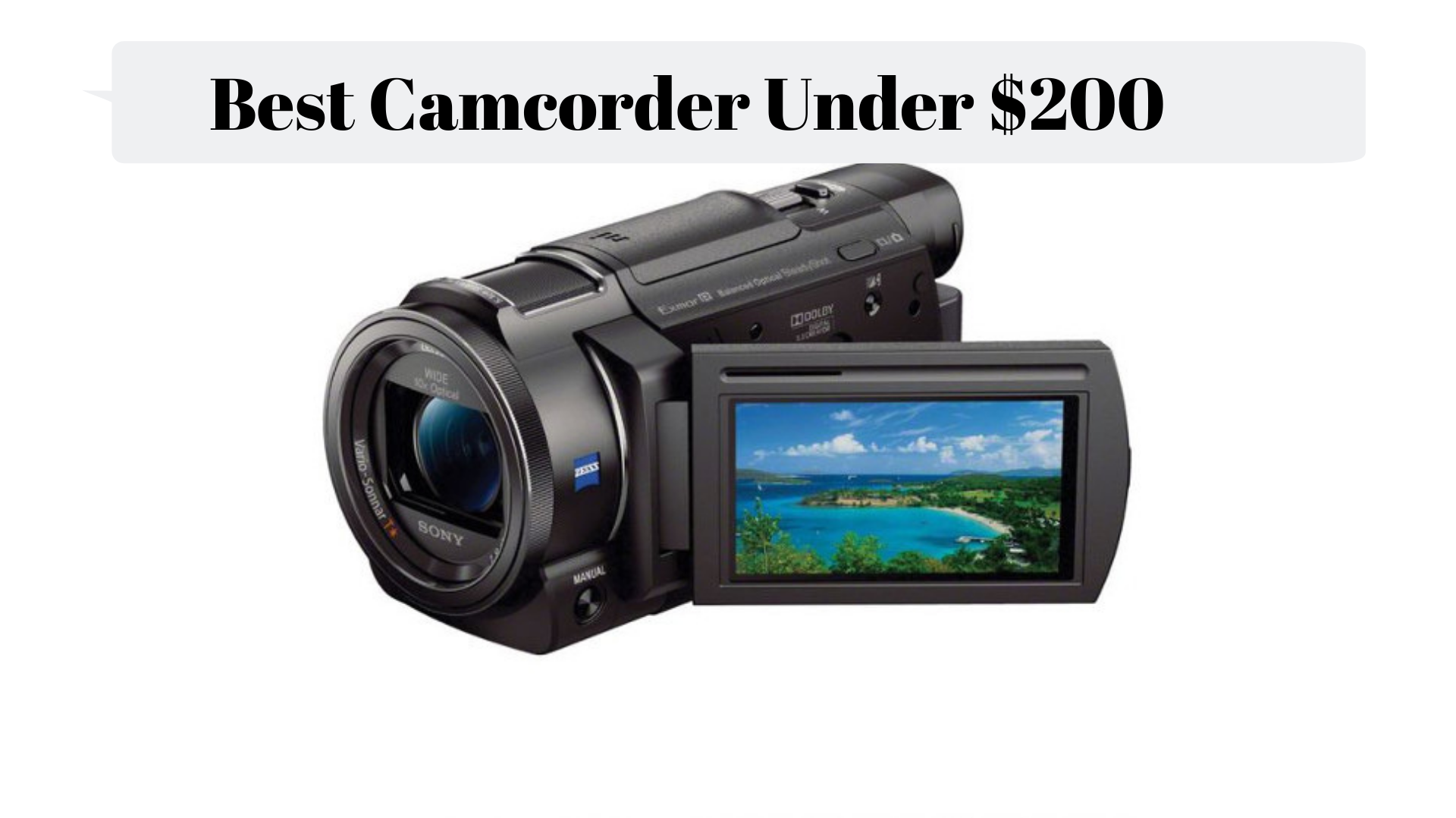 Best Camcorder Under 300 Dollar