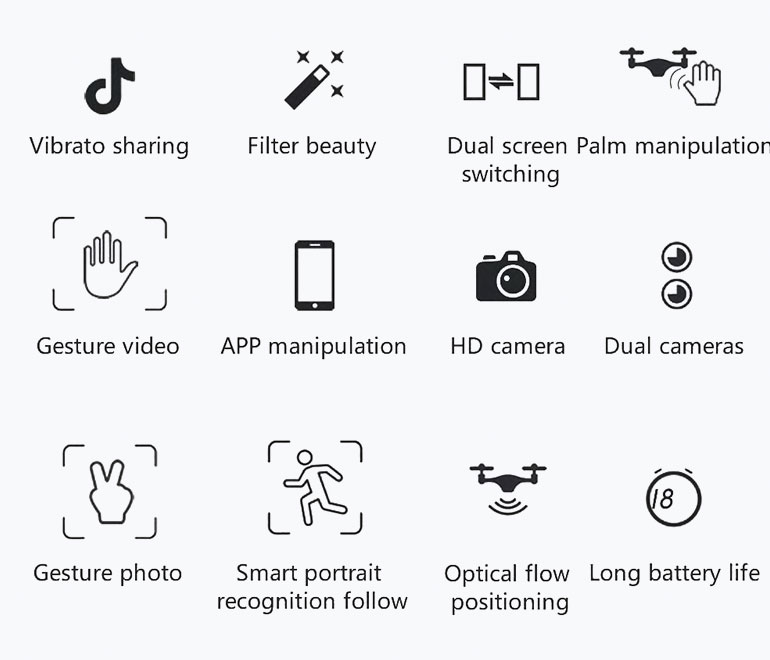 features of drone review